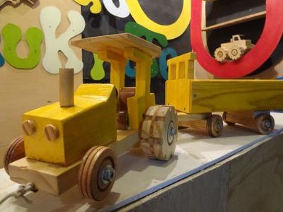 Como Fazer um Tratorzinho de Madeira - Dia das Crianças (ft. Tales)