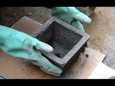 """Como fazer um Vaso de Cimento """"pequeno"""" - passo a passo"""