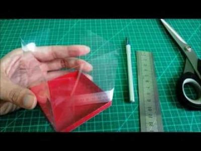 Como fazer uma caixinha de lembrancinha de acetato - tutorial