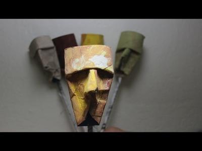 Como Fazer Uma Mascara ou Caricatura de Rolo de Papel Higienico