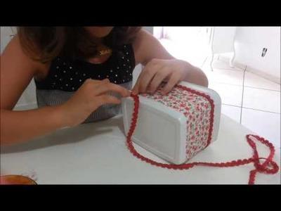 Como reciclar um pote de sorvete