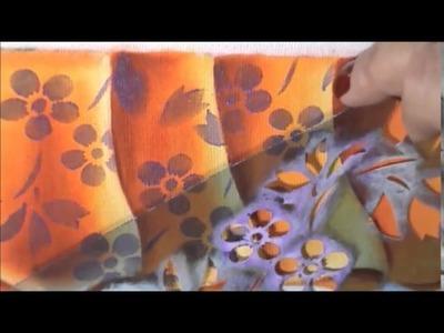Dicas de pintura grátis - Falso barrado - Aula 2 - Como aplicar stencil, luz seca e acabamento.
