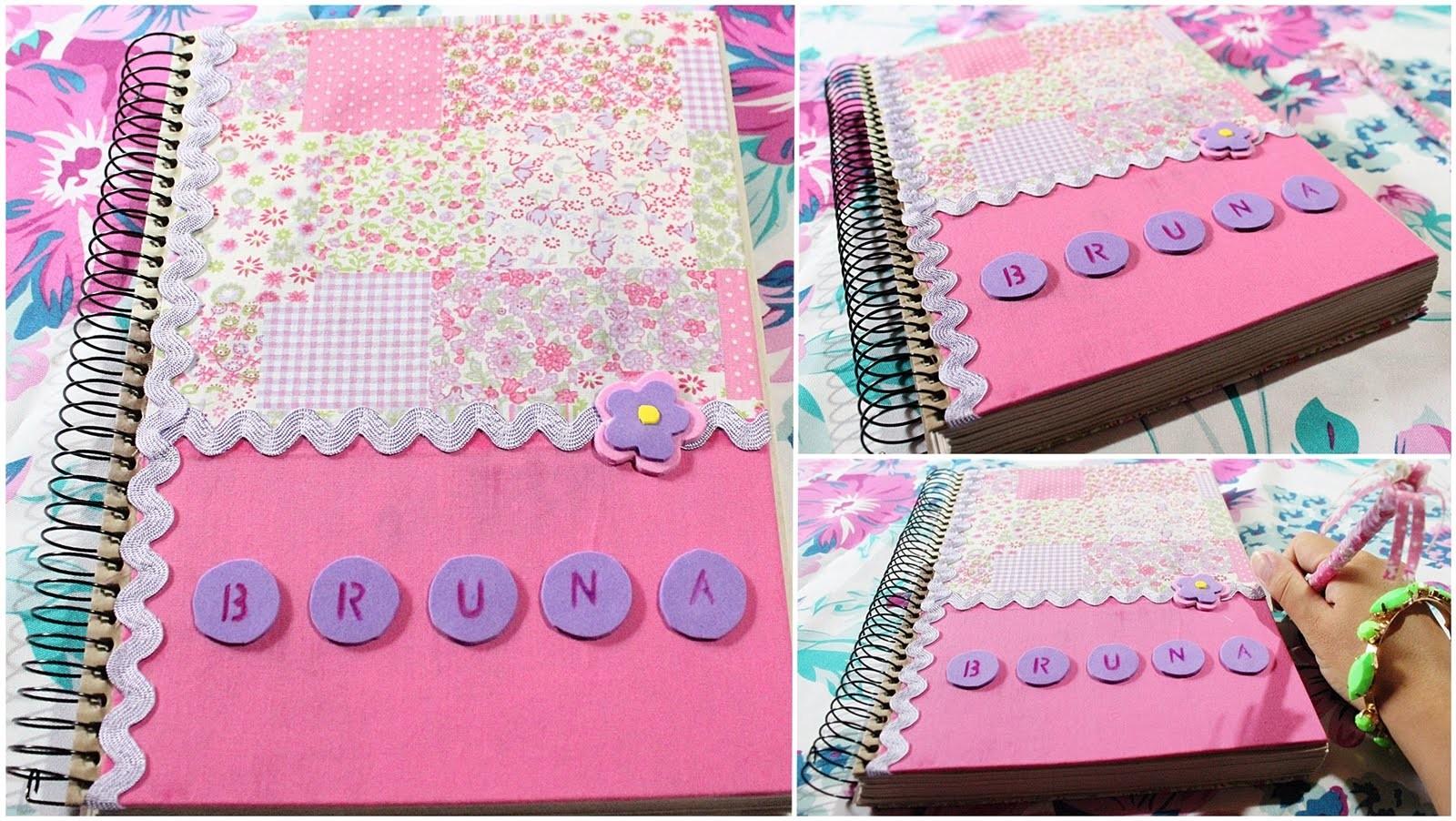 DIY: Caderno Customizado com Tecido (Faça Você Mesma)