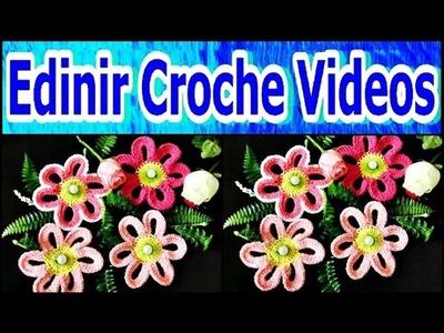 FLORES EM CROCHE RASTEIRAS PASSO A PASSO - 050