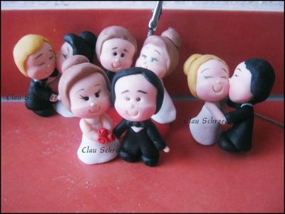 Lembrancinhas para casamento - Biscuit. Porcelana Fria by Clau Schroeder