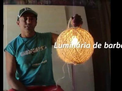 LUMINÁRIA PENDENTE DE BARBANTE :: PEÇA ARTESANAL DE BAIXO CUSTO