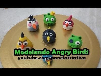 Modelando Angry Birds em Pasta Americana - Panela Criativa