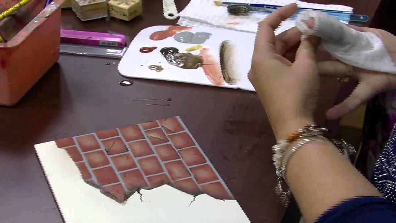 Mulher.com - 03.09.2015 - Pintura com imitação de tijolinho - Mara Fernandes PT2
