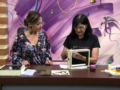 Mulher.com - 21.09.2015 - Caixa porta rolhas.lembranças - Vera Lúcia Francisco