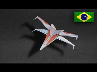Origami: Nave Star Wars. X Wing - Instruções em Português PT BR