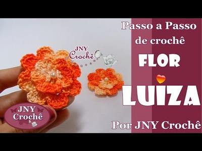 PAP de crochê Flor Luiza por JNY Crochê
