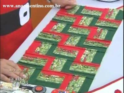 Patchwork Ana Cosentino: Caminho de Mesa Natalino (Ateliê na TV, TV GAZETA)