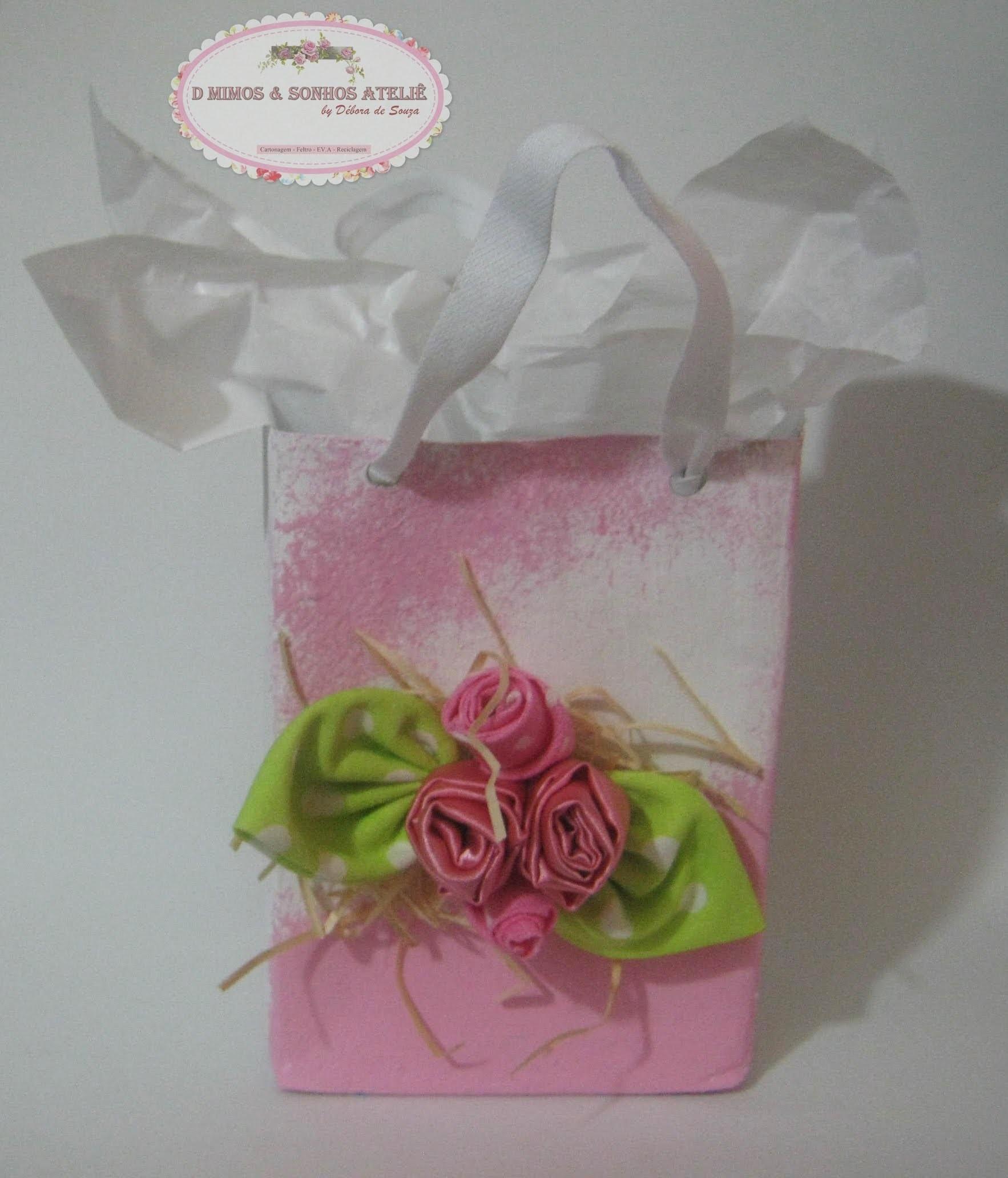 Sacola para presente ou lembrancinha (Recycled Gift Bag)