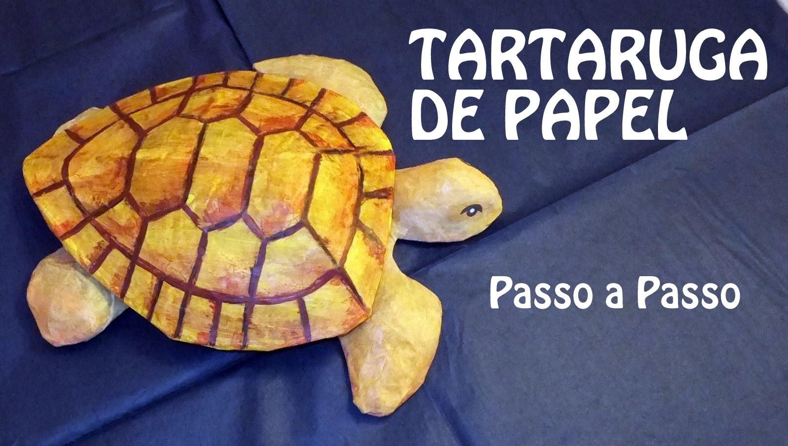 Tartaruga escultura de Papel: Feito a mão Artesanato