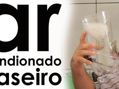 Ar condicionado caseiro (cooler + PET + pilha) (experiência)