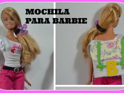 Barbie como fazer mochila e bolsas para a volta as aulas