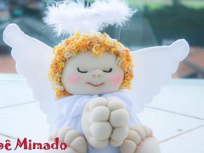 Boneca de Pano:Como fazer um Anjo - Parte 2 - bebe mimado