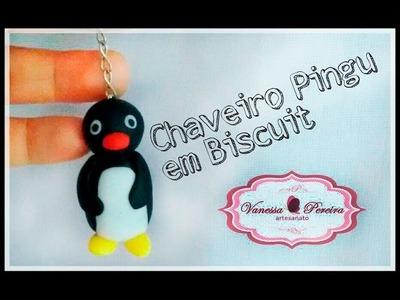 Chaveiro PINGU em biscuit (5ª aula de biscuit para iniciantes)