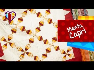 Colcha ou manta em patchwork Capri - Patchwork Maria Adna - Aula em vídeo de técnica de patchwork