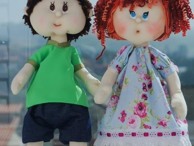 Como Fazer Boneca de Pano: Boneca com Gorro - Parte 1-  Bebe Mimado