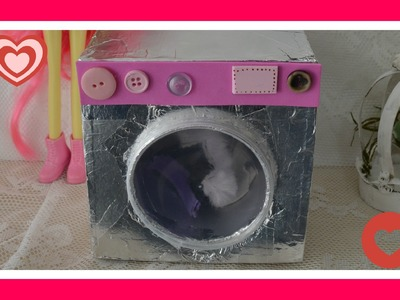 Como fazer maquina de lavar roupas para a boneca barbie