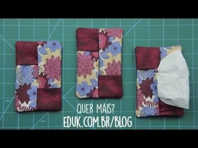 Como fazer: porta lenço em tecido