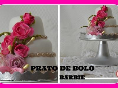 Como fazer prato de bolo para as bonecas Barbie e outras