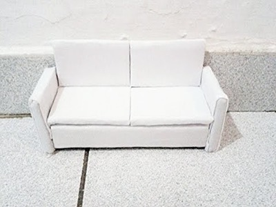 Como fazer sofá para bonecas