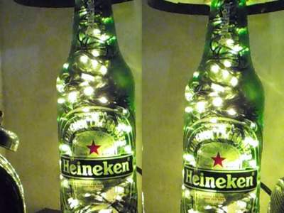 DIY  luminária de garrafa como fazer