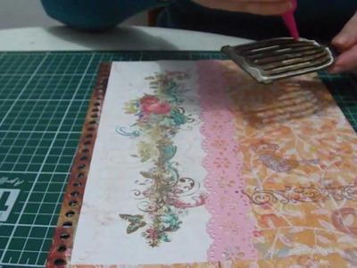 Ensinando a fazer scrap decor em um caderno com  momento divertido.wmv