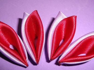 Flores de tecido - Linda pétala de duas pontas!! Passo à passo!^^