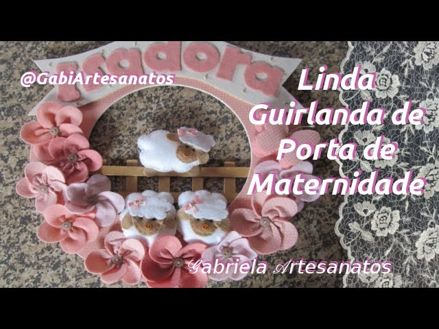 Linda Guirlanda para Porta de Maternidade