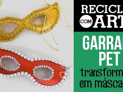 Máscaras de garrafa PET - Reciclar com Arte