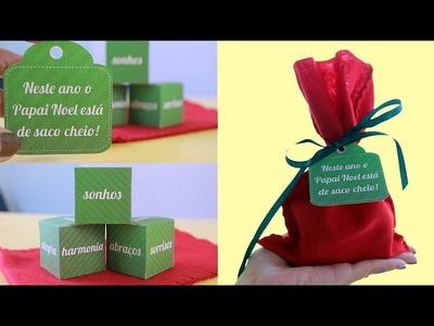 Mimo para amigos, familiares e namorado no Natal - PAPAI NOEL DE SACO CHEIO