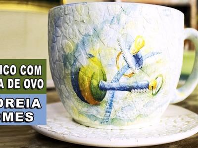 MOSAICO COM CASCA DE OVO (Andreia Gomes)
