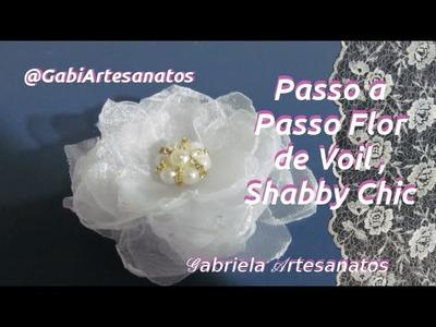 Passo a Passo Flor de Tecido Voil, Shabby Chic- Tutorial