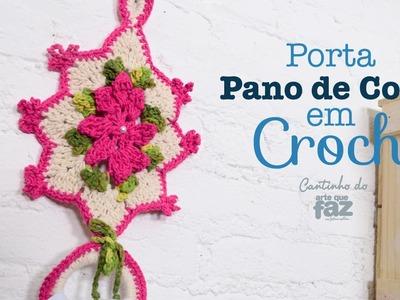 Porta Pano de Copa em Crochê (Diane Gonçalves)