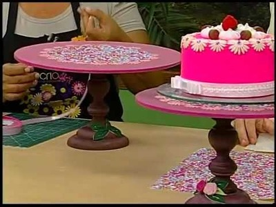 Programa Arte Brasil - 05.02.2014 - Sônia Marques - Suporte de Bolo e Cupcake