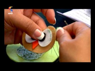 SEMPRE FELIZ - Aprenda a decorar capa de caderno e a fazer peça de feltro