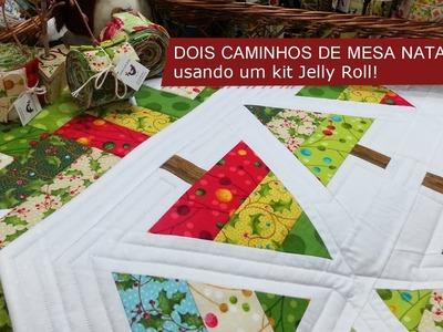 Tia Lili Patchwork: dois caminhos de mesa para o Natal, com poucos tecidos!