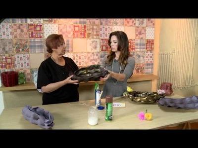 Vida Melhor - Artesanato: Fruteira com bandeja de maçã (Beth Pires)