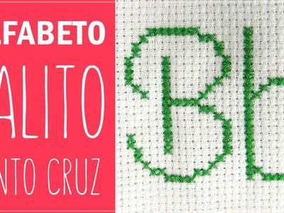 Alfabeto palito - Letra B & b em ponto cruz