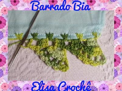Barrado Bia em crochê para fralda # Elisa Crochê