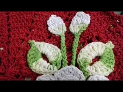 Botão de rosa em crochê, para aplicar nos  tapetes