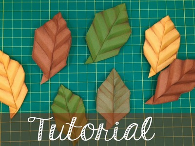 Como fazer folhas de origami para scrapbook (Origami leaves)