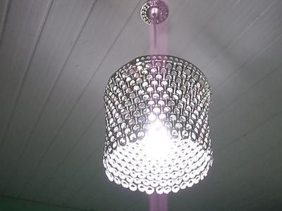 Como Fazer Luminária de Lacres  e a  estrutura.