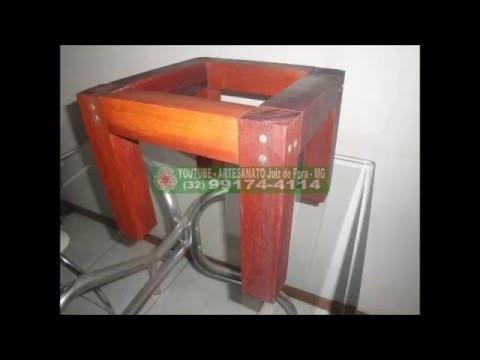 Como fazer Mesinha com resto de madeira descartada Artesanato Juiz de Fora MG
