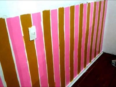 Como Pintar Listras em quarto de Bebê - Parte 04