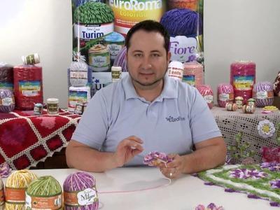 Crochetando com EuroRoma e Marcelo Nunes - Flor Anis Dupla