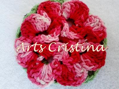Flor de croche 3D com ARTS CRISTINA